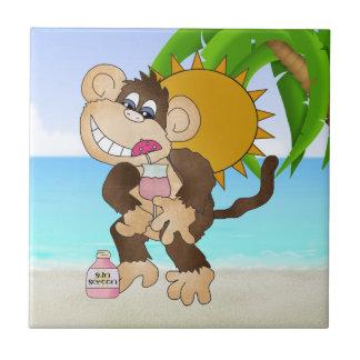 Teja de la diversión del dibujo animado del mono d