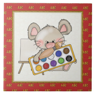 Teja de la escuela del dibujo animado del ratón de