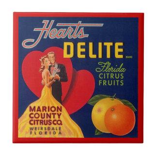 Teja de la etiqueta del cajón de la fruta de Delit