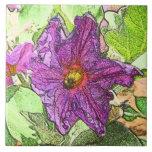 Teja de la flor de la berenjena