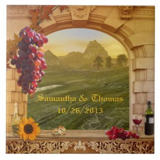 Teja de la foto del boda del tema del viñedo o del