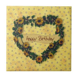 Teja de la guirnalda del feliz cumpleaños