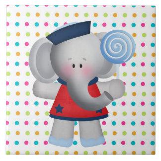 Teja de la panadería del dibujo animado del elefan