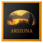 Teja de la puesta del sol del oro de Arizona
