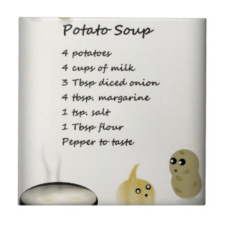 Teja de la receta de la sopa de patata