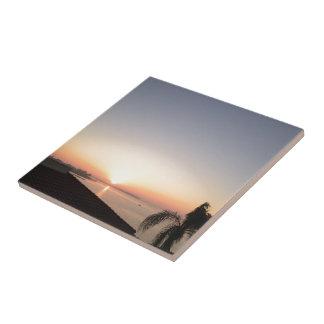 Teja de la salida del sol de la impresión