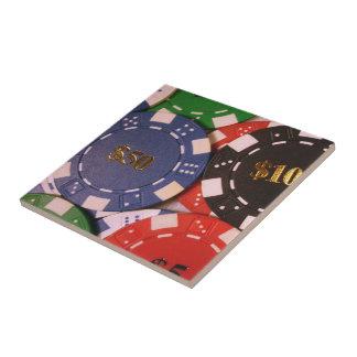 Teja de las fichas de póker