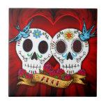 Teja de los cráneos y de los Bluebirds del amor