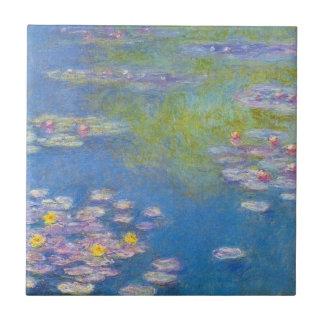 Teja de los lirios de agua amarilla de Monet