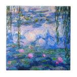 Teja de los lirios de agua de Monet