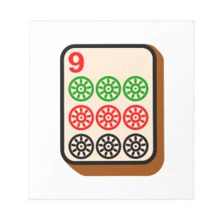 Teja de Mahjong Blocs De Papel