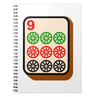 Teja de Mahjong Libros De Apuntes Con Espiral