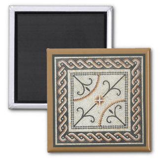 Teja de mosaico bizantina imán cuadrado