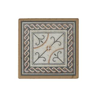 Teja de mosaico bizantina imán de piedra