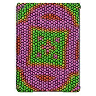 Teja de mosaico coloreada brillante funda para iPad air