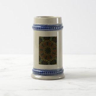 Teja de mosaico del caleidoscopio taza de café