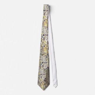 Teja de mosaico del oro corbatas personalizadas