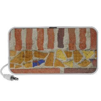 Teja de mosaico del vintage altavoces