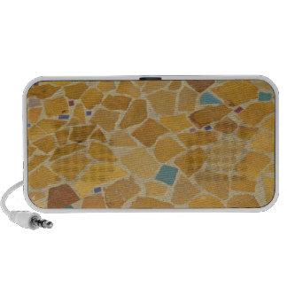 Teja de mosaico del vintage sistema de altavoz