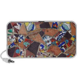 Teja de mosaico del vintage altavoces de viaje