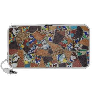 Teja de mosaico del vintage portátil altavoz