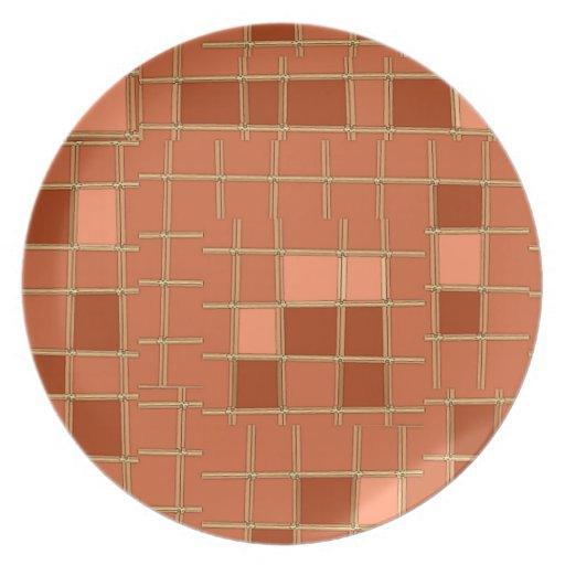 Teja de mosaico plato