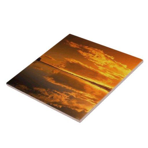 """Teja de oro 6x6 de la puesta del sol """""""