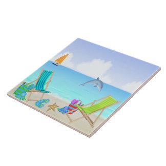 Teja de relajación Trivet de la playa