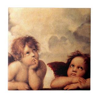Teja de Sistine Madonna de las querubes de Raphael