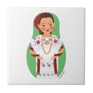 Teja de Yucatán Matryoshka del mexicano