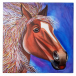 Teja decorativa del caballo