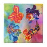 Teja decorativa del diseño del Goldfish