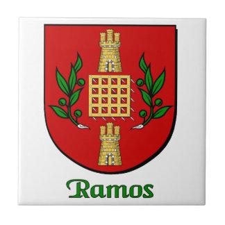 Teja decorativa del escudo de la familia de Ramos