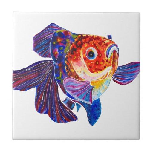Teja decorativa del Goldfish de Veiltail del calic