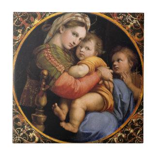 Teja decorativa del sedia del della de Madonna de