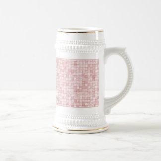 Teja decorativa geométrica del rosa femenino del jarra de cerveza