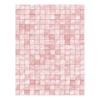 Teja decorativa geométrica del rosa femenino del tarjetas postales
