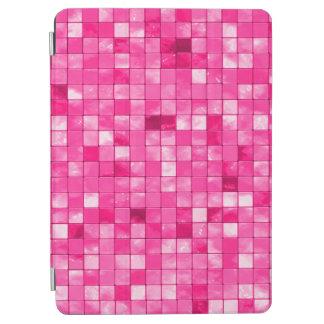 Teja decorativa geométrica fucsia del Dúo-tono Cover De iPad Air