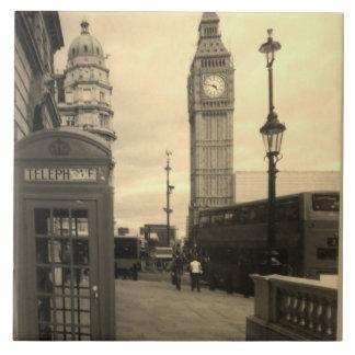 Teja decorativa grande de la foto de Londres Ben