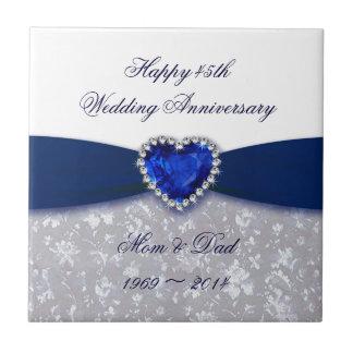 Teja del aniversario de boda del damasco 45.o