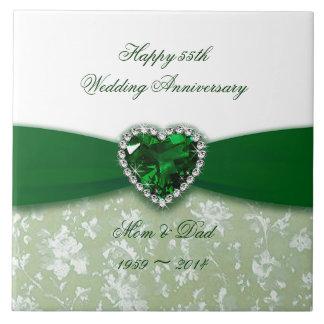 Teja del aniversario de boda del damasco 55.o