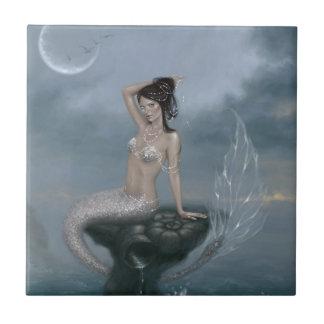 Teja del arte de la sirena de la marea de la luna