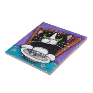 Teja del arte del gato de la sopa el | de la cola