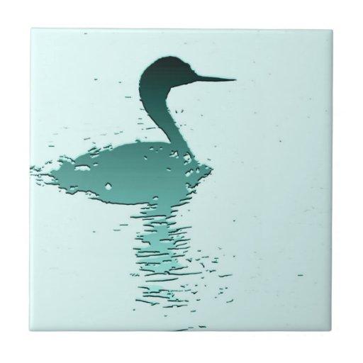 Teja del arte del pájaro del Grebe