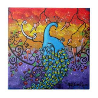 Teja del arte del pavo real del encantamiento