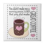 Teja del café de la diversión