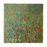 Teja del campo de la amapola de Gustavo Klimt