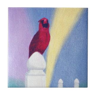 Teja del cardenal de la primavera