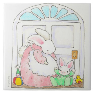 Teja del conejito de la madre y del bebé