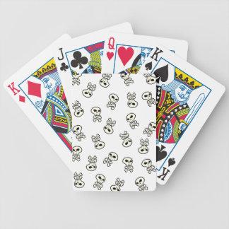 teja del cráneo barajas de cartas